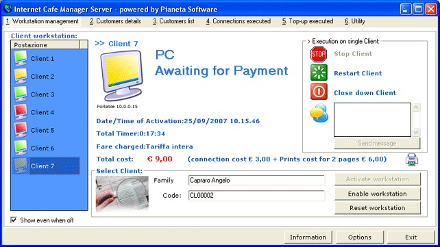 Click to view Internet Cafe Manager screenshots
